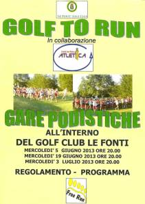 locandina Golf to Run